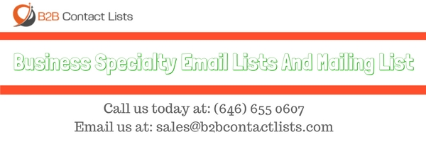 Business Specialty Email Lists And Mailing List