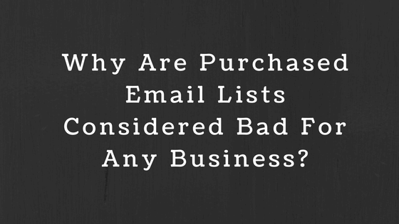 Purchased Email Lists