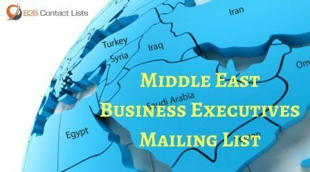 Middle East Business Executives Mailing List