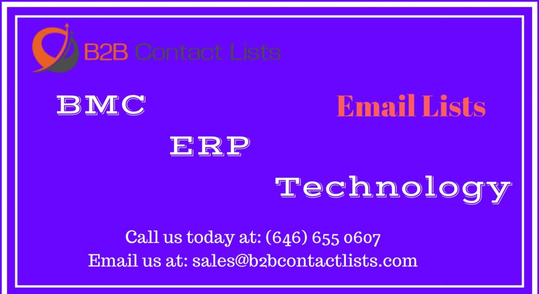 BMC ERP Technology Executives Mailing Lists & Email Lists